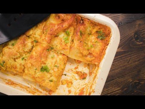 Veg Lasagna Recipe - How to make Healthy Vegetarian Lasagna English