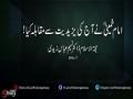امام خمینیؒ نے آج کی یزیدیت سے مقابلہ کیا - Urdu