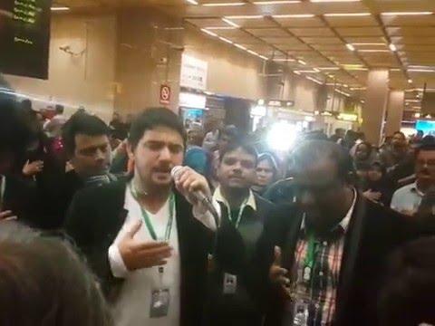 Azadari at Jinnah International Airport Karachi Farhan Ali Waris Urdu