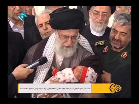 Leader Imam Khamenei - Azan to Newborn - Must Watch - Farsi