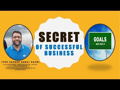 The Secret of a Successful Business || Case of World\'s Giant Companies by Prof Syed Zaheer Abass Kazimi - Urdu