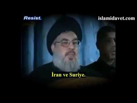 Seyyid Hasan Nasrullah\'tan Siyonist  Yöneticilere Tarih Dersi Müttefikleriniz sizi kaç defa sattı - Arabic sub Tuki
