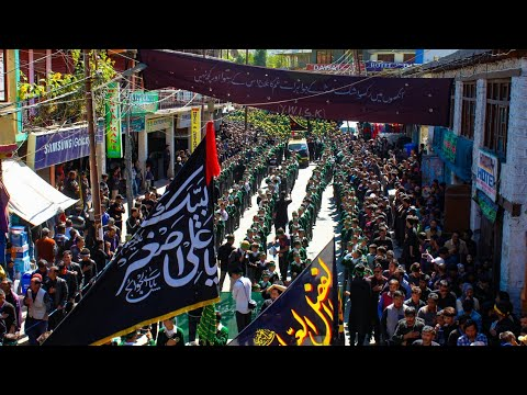 8th Muharram Procession in Kargil Ladakh - Youm-e-Ali Asgar Held By Students Of MES (IKMT) - Urdu