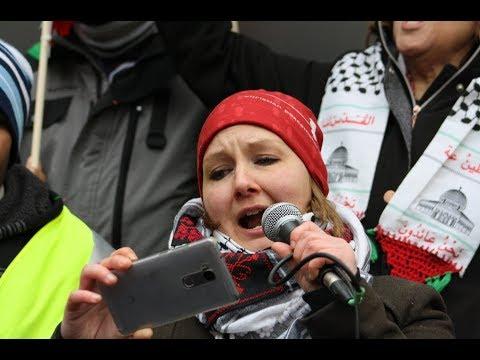 Rachelle Friesen Speaking at Toronto Hands Off Jerusalem Al-Quds Rally Dec.09 2017 -English