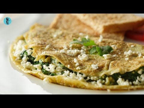 [Quick Recipe] Healthy Spinach Omelette - English Urdu