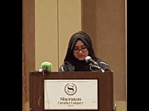 Asfa Riyaz at Imam Hussain Seminar 2016 Calgary Canada