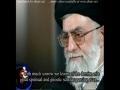 [English sub] Rahber message on death of Ayatullah Behjat - Persian