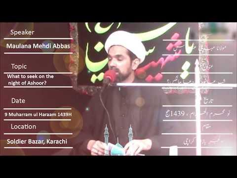 CLIP | What To Seek On The Night Of Ashoor | Maulana Mehdi Abbas | Urdu sub English