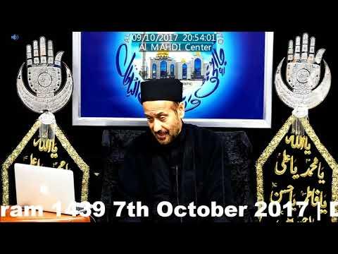 5th Majlis 17th Moharram 7th Oct 2017 By Allama Syed Jan Ali Shah Kazmi at Al Mahdi Islamic Center Toronto-Urdu