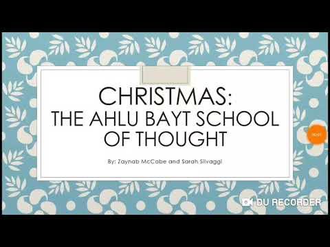 Christmas: ahlu bayt school of thought in English  - English