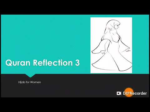 Hijab in Quran for woman  - English