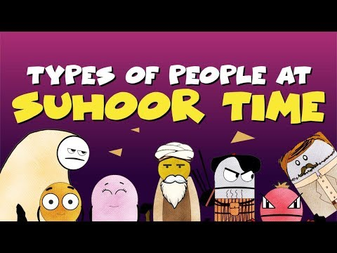 Types of People at Suhoor Time | BISKITOONS | English