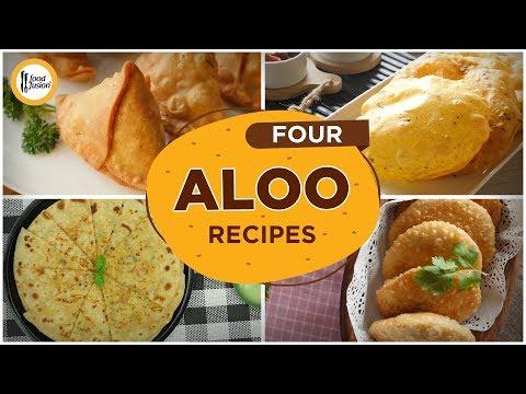 [Quick Recipes] 4 Aloo / potato Recipes (Ramzan Special Recipes)  - English Urdu