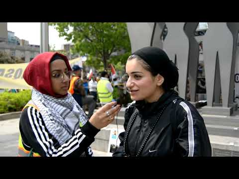 [Interview] Sister Naseem Asghari   Annual Walk for Al Quds 2019   Toronto, Canada - English