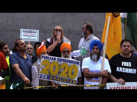 Karen Rodman Addressing to Kashmir Solidarity Rally Toronto 18Aug2019 - English