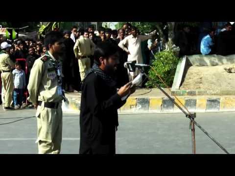 [Speech] Br. Raza | During Namaz e Zuharain | Markazi Juloos e Arbaeen 1441 | Karachi - Urdu