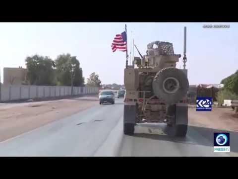[27/10/19] US military convoy heads towards Kurdish-held oil fields east of Syria - English