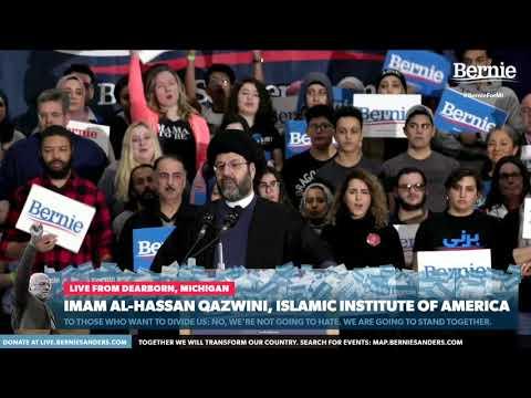 The American Brand of ISLAM   Hassan Al-Qazwini endorses Bernie Sanders   English