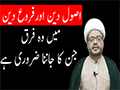 What is the main Difference between Asoole Deen And Farooe Deen - Urdu