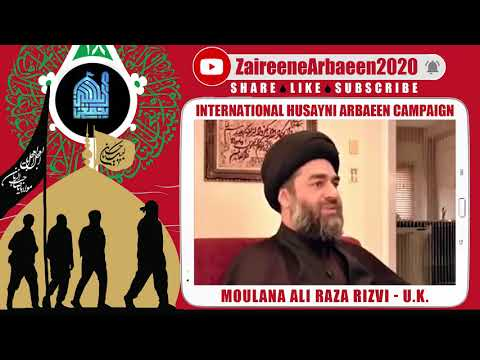 Clip | Aalami Zaireene Arbaeen 2020 | Moulana Ali Raza Rizvi | Why Arbaeen Is Important? - English