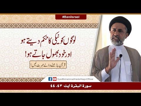 Logon Ko Naiki Ka Hukum Daity Ho Aur Khud Bhool Jaty Ho! | Ayaat-un-Bayyinaat | Hafiz Haider Naqvi | Urdu