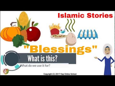 Kids Islamic Stories | Blessings | Kids Islamic Cartoon | Kaz School | English