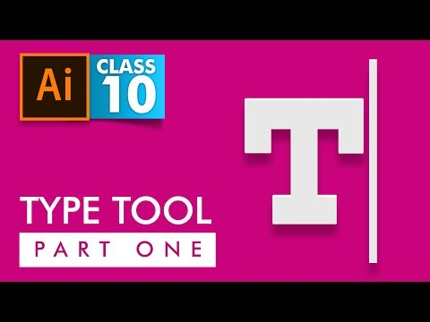 Adobe Illustrator - Type Tool Part 1 - Class 10 - Urdu / Hindi