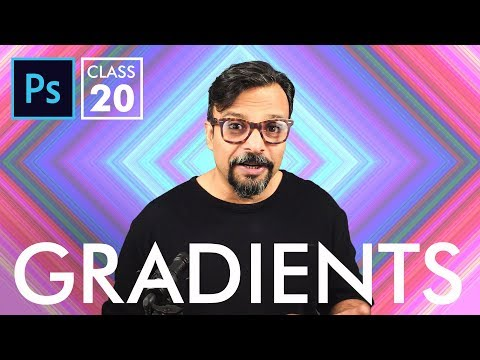 Gradients - Adobe Photoshop for Beginners - Class 20 - Urdu / Hindi