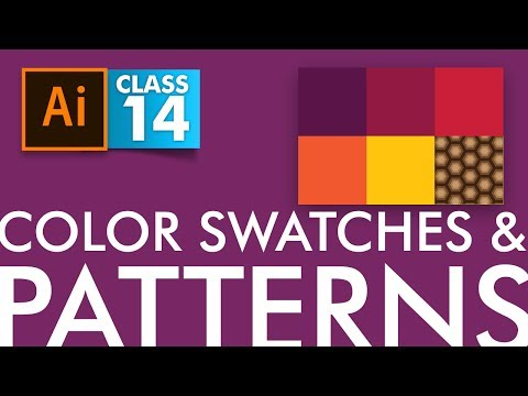 Adobe Illustrator - Color and Pattern Swatches - Class 14 - Urdu / Hindi