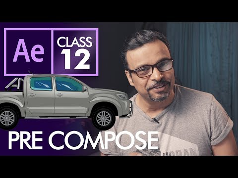 PreCompose in Adobe After Effects Class 12 - Urdu / Hindi