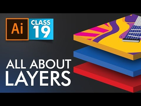 Adobe Illustrator - All about Layers Panel - Class 19 - Urdu / Hindi