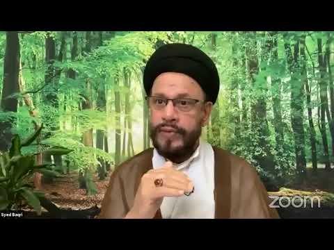 🔴Live Online ZOOM Dars#4   Public Live Questions With Zaki Baqri  Quran: Constitution of Mehdi A.S   Urdu