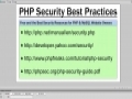 PHP MySQL Security - 4 website Links - Best Practices For Your Website and Server - English