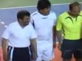 Ahmadinejad playing indoor Football - All Languages