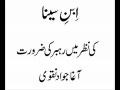Rehbariat ki Zaroorat az nazar e ibn e seena - Aga jawwad naqvi - Urdu