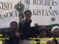 [2] Speech by Dr. Ali Abbas - Protest @ Pakistan Embassy, Washington DC - 14Apr12 - English