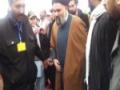 [3rd Feb 2013 - Clips] Istiqbal of Ustad Syed Jawad Naqavi before his Speech - Urdu