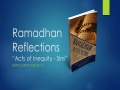 [Supplication For Day 6] Ramadhan Reflections - Acts of Inequity - Sins - Sh. Saleem Bhimji - English