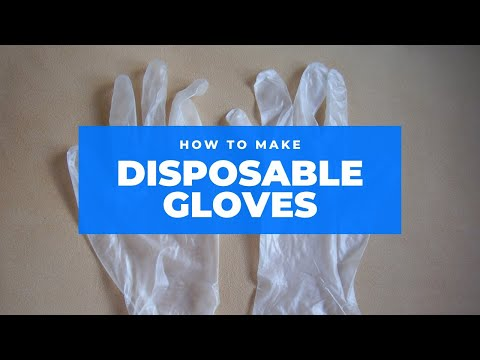 How to make disposable gloves from polythene bag All languages
