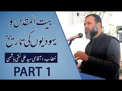 Discussion About Palestine & Israel History    Syed Ali Naqi Hashmi    Part 1 - Urdu
