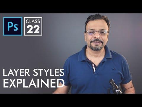 Layer Styles / Blending Options - Adobe Photoshop for Beginners - Class 22 - Urdu / Hindi