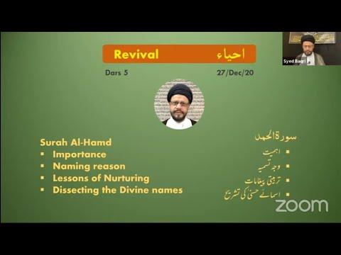 🔴Live Online ZOOM Dars#5   Public Live Questions With Zaki Baqri  Quran: Constitution of Mehdi A.S   Urdu