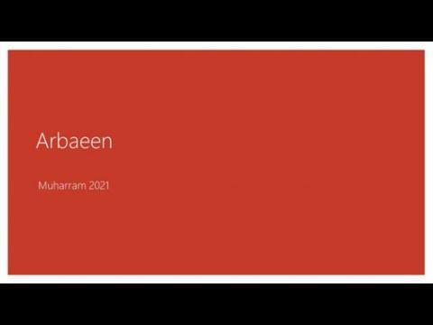 [ Children Prog ] Importance of Arabaeen I  Sister Sarah Seyani   1443-2021   English